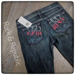 NWT ~ ROCK & REPUBLIC Dark Wash Jeans